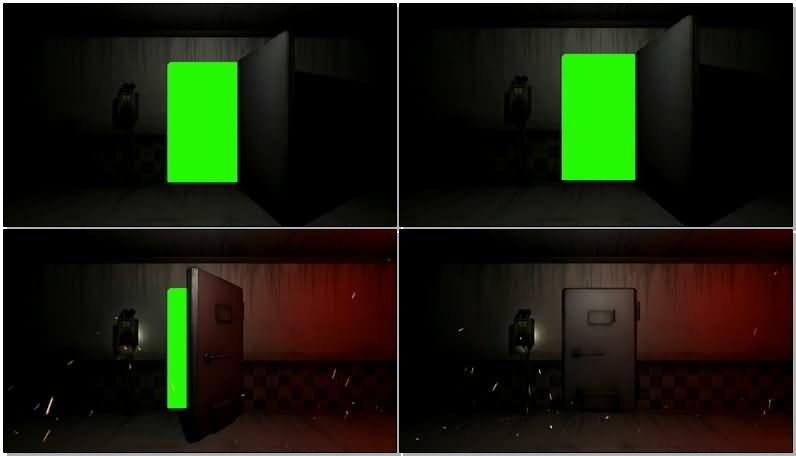 绿屏抠像打开的保险门视频素材