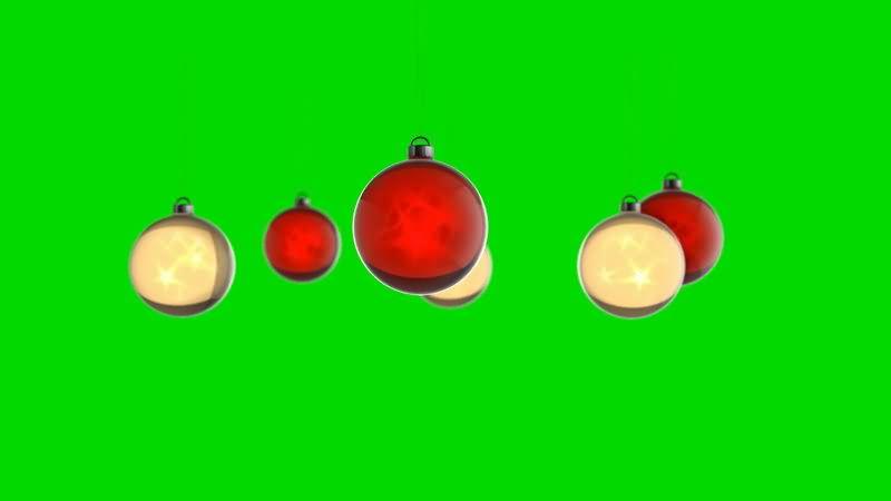 [4K]旋转的圣诞挂饰视频素材