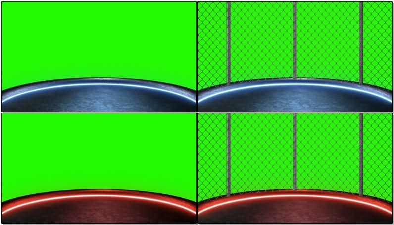 绿屏抠像霓虹灯舞台场地视频素材
