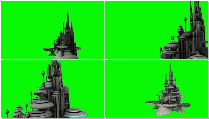 绿屏抠像高科技未来城市视频素材