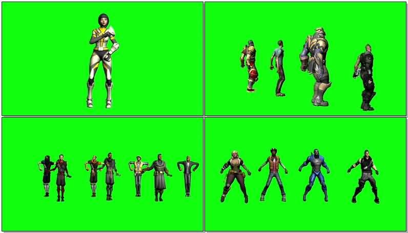 绿屏抠像跳舞的人物视频素材