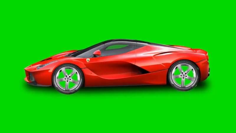 绿屏抠像红色轿车视频素材