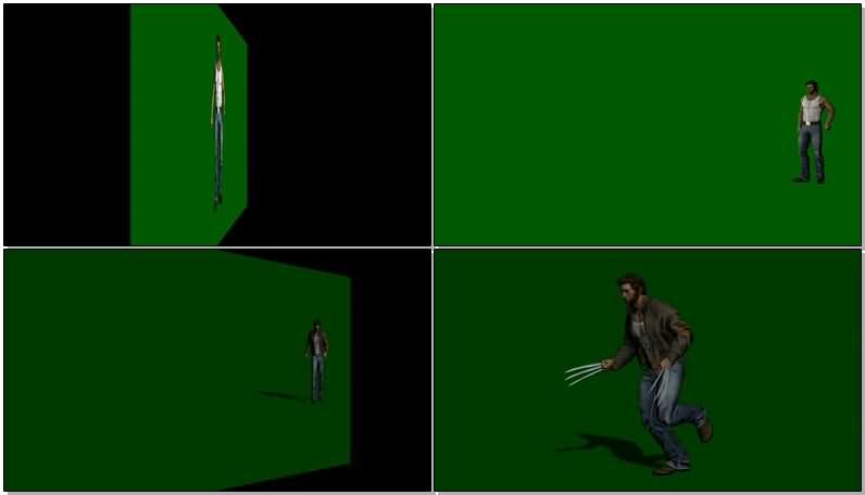 绿屏抠像金钢狼视频素材