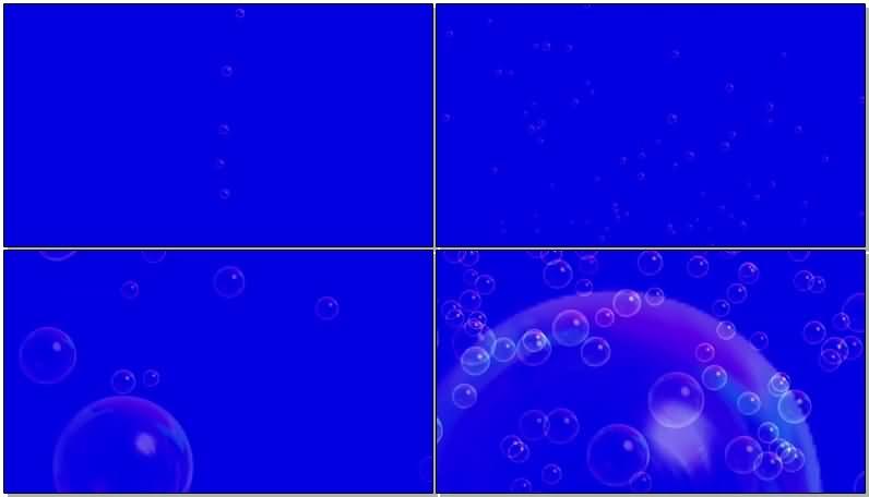 蓝屏抠像透明气泡视频素材