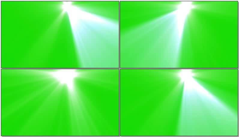 绿屏抠像强光探照灯视频素材