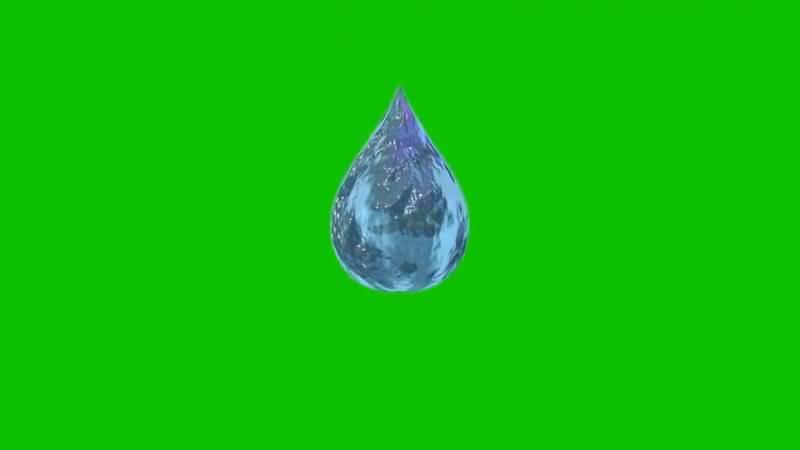 绿屏抠像下落的水滴视频素材