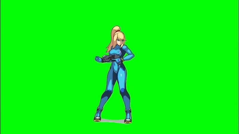 绿屏抠像银河战士萨姆丝视频素材