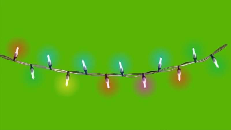 [4K]绿屏抠像闪光的霓虹灯视频素材