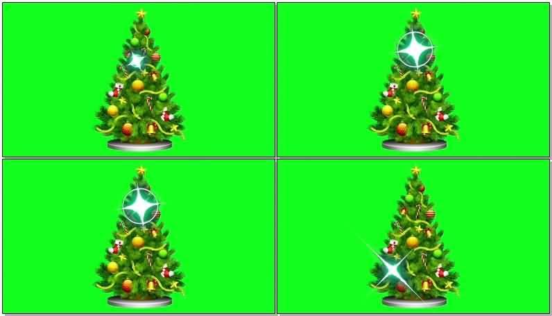 [4K]绿屏抠像圣诞树视频素材