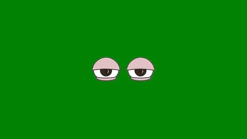 绿屏抠像懒散的眼睛视频素材