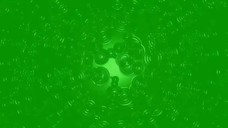 绿屏抠像滴在路面上的雨水视频素材