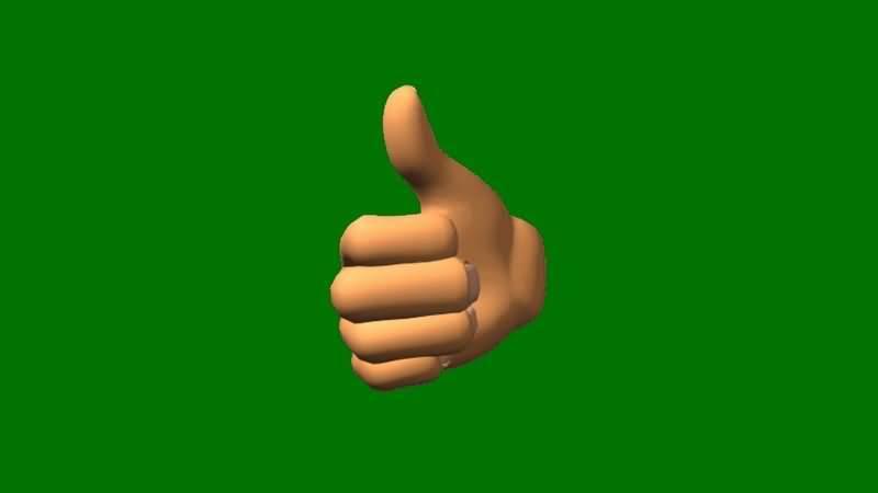 绿屏抠像真棒竖拇指手势视频素材