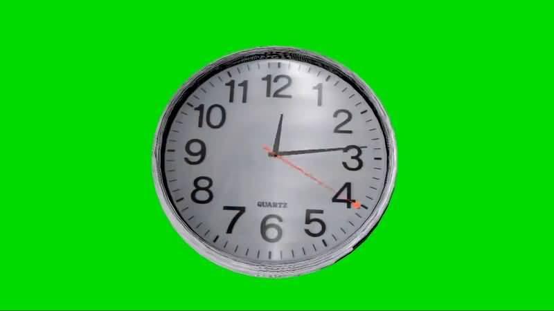 绿屏抠像钟表视频素材