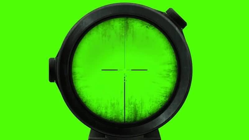 绿屏抠像瞄准镜准星视频素材