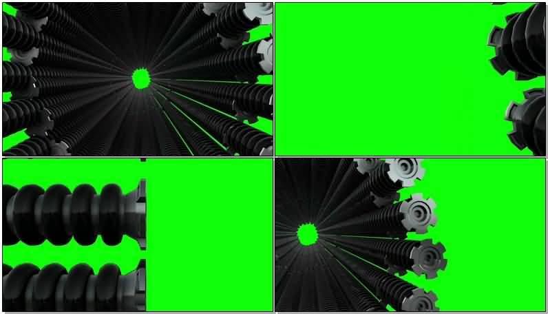 绿屏抠像成捆的钢管视频素材