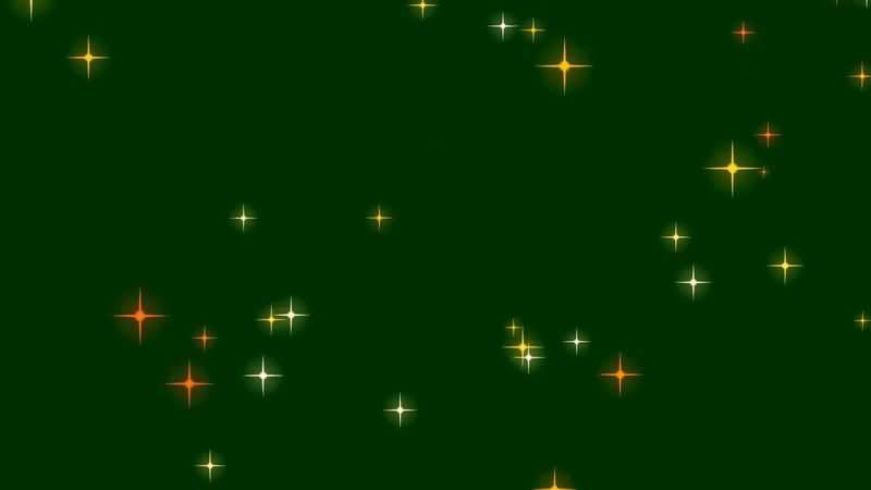 绿屏抠像彩色星光视频素材