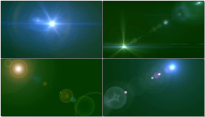 绿屏抠像阳光照射光晕视频素材