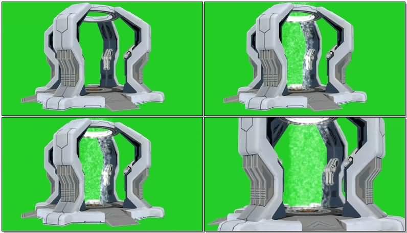 绿屏抠像时空传送门视频素材