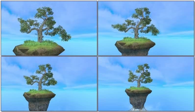 绿色大树盆栽片头背景