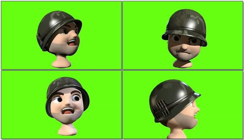 绿屏抠像卡通士兵视频素材