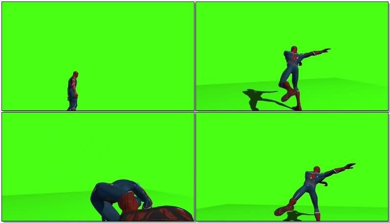 绿屏抠像蜘蛛侠视频素材