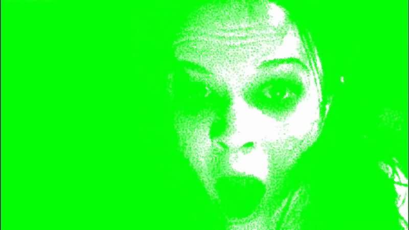 绿屏抠像幽灵女鬼视频素材