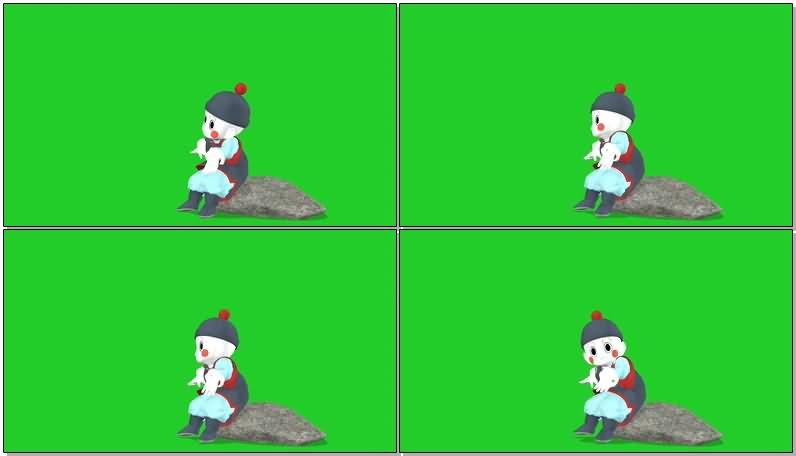 绿屏抠像七龙珠人物饺子视频素材