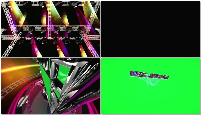 绿屏抠像舞台大屏幕视频素材