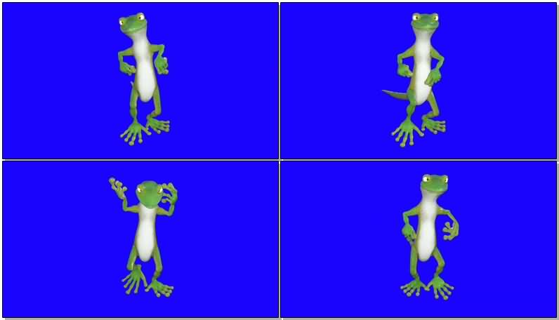 绿屏抠像跳舞的青蛙视频素材