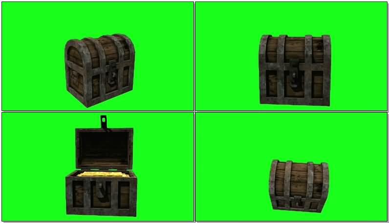绿屏抠像宝藏箱子视频素材