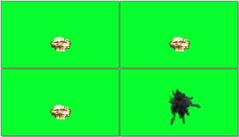 绿屏抠像各类爆炸效果视频素材