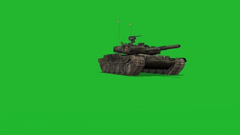 绿屏抠像坦克视频素材