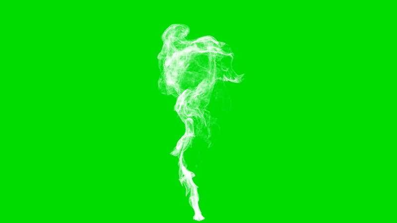 绿屏抠像一缕烟雾视频素材