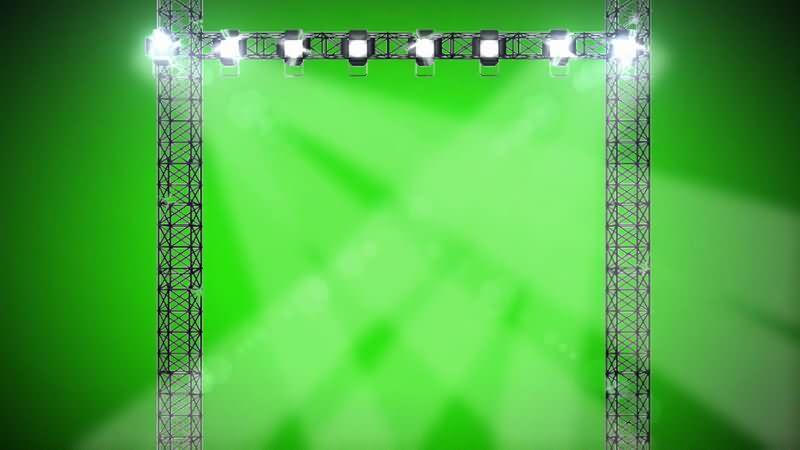 绿屏抠像舞台射灯灯光视频素材