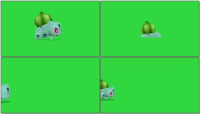 绿屏抠像口袋妖怪视频素材