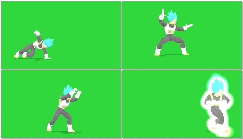 绿屏抠像超蓝贝吉塔视频素材
