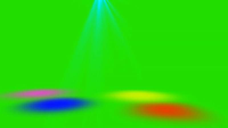 绿屏抠像舞厅彩色射灯视频素材