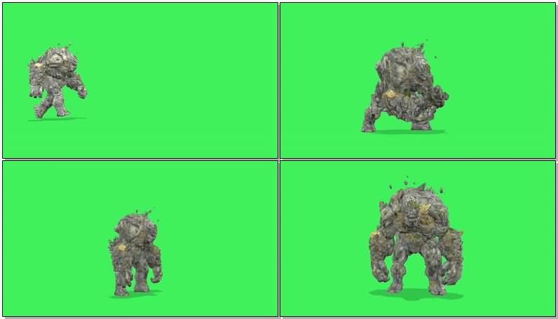 绿屏抠像岩石怪物巨人视频素材