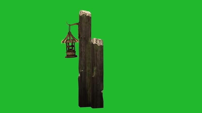 绿屏抠像枯木油灯视频素材