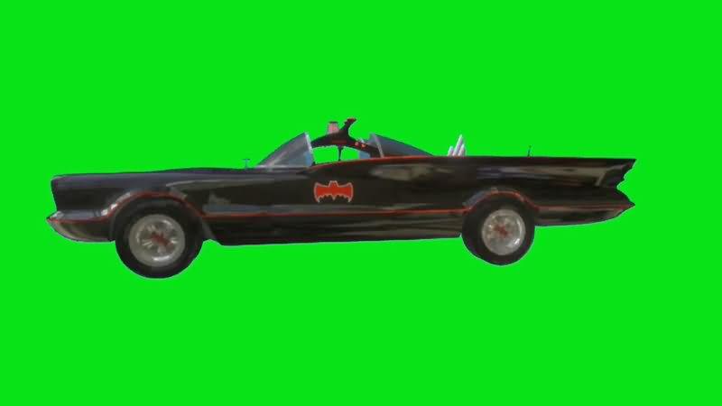 绿屏抠像蝙蝠侠战车视频素材