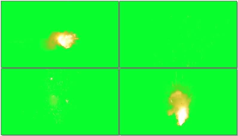 绿屏抠像鞭炮礼花爆炸效果视频素材