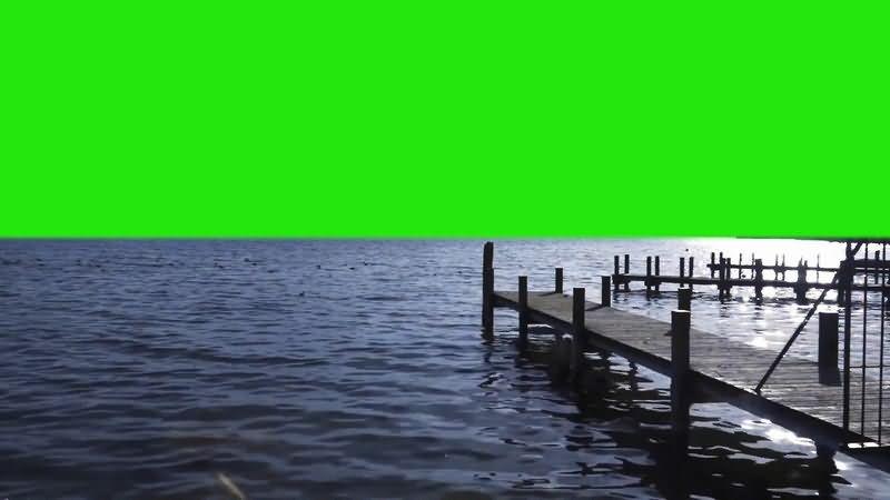 绿屏抠像海港码头视频素材