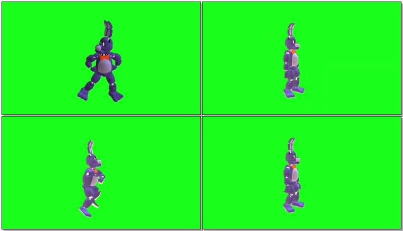 绿屏抠像跳舞的卡通狗视频素材