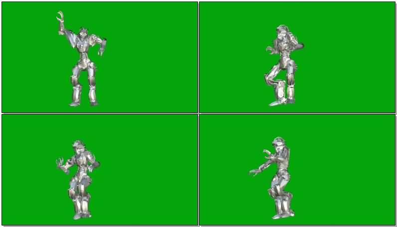 绿屏抠像跳舞的机器人视频素材