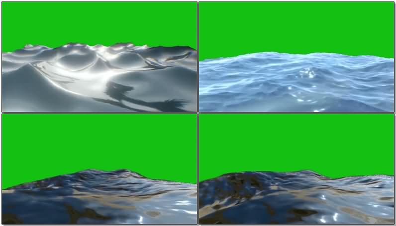 绿屏抠像各种海面水面视频素材