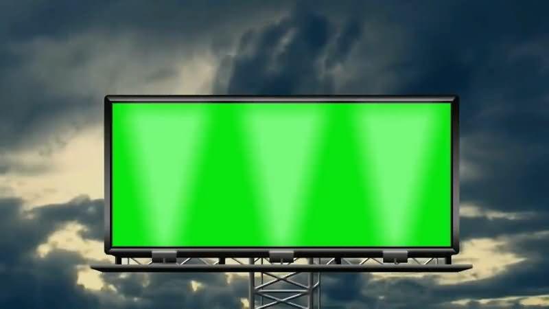 绿屏抠像大型广告牌视频素材
