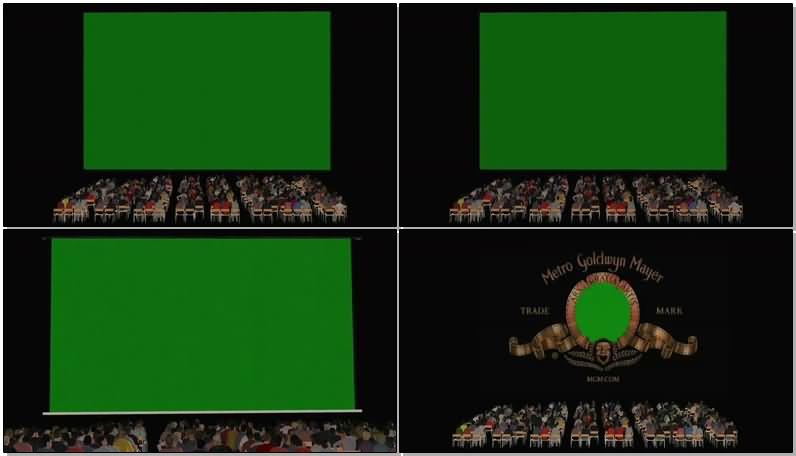 绿屏抠像电影院观众视频素材