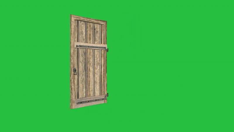 绿屏抠像开关木门视频素材