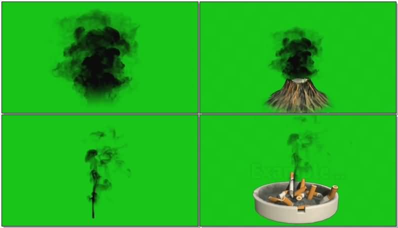 绿屏抠像各种烟雾视频素材