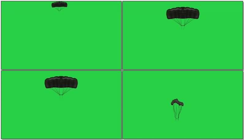 绿屏抠像降落伞视频素材
